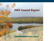 2009 Annual Report - CentraCare Health System