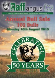 2015 Bull sale catalogue - Monday 10th August