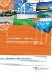 Rapport - Stevige ambities klare taal, definitiestudie - Agentschap NL