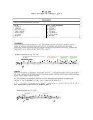 Music 231 Motive Development Techniques, part 2 - Jkornfeld.net