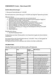 Gemeindebote August 2009 - Gemeinde Crostau