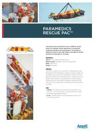 paramedics rescue pac™ - Ansell Protective Solutions
