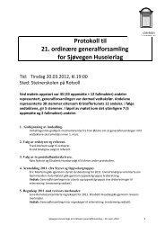 Protokoll til 21. ordinære generalforsamling for Sjøvegen Huseierlag
