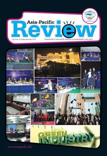 Vol. IX No. 4 October - December 2012 - Asia Pacific Institute of ...