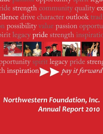 Northwestern Foundation, Inc. Annual Report 2010
