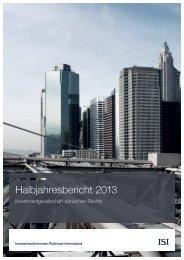 Halbjahresbericht 2013 - ISI.de
