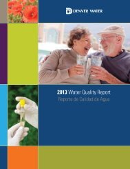 2013 Water Quality Report - Bear Creek Water and Sanitation District