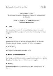 Bericht zur Umsetzung des ESF-Bundesprogramm Perspektive ...