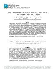 Análise espacial de atributos do solo e cobertura vegetal ... - SciELO