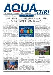 AQUA Ştiri nr. 3 (43) / martie 2013 - Aquatim