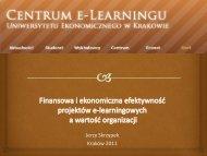 Finansowa i ekonomiczna efektywność projektów e-learningowych ...