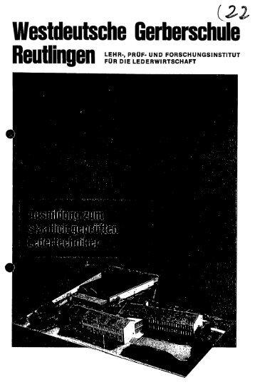 Westdeutsche Gerberschule - Lederpedia