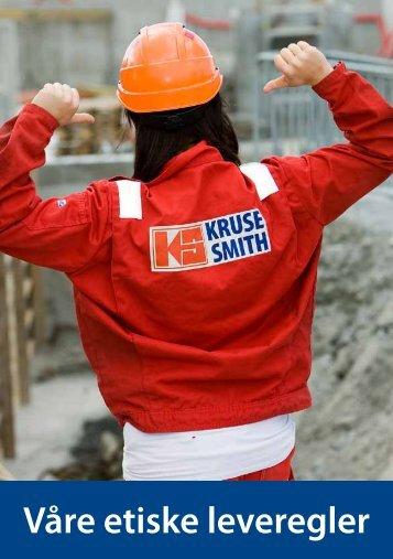 Last ned vår brosjyre på etiske leveregler hos Kruse Smith.
