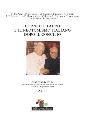 cornelio Fabro e il neotoMisMo italiano DoPo il concilio - Slsi.it
