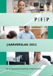 JAARVERSLAG 2011 - PFP - PBO-Dienstverlening