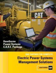 electric power Systems management Solutions - Hawthorne Cat