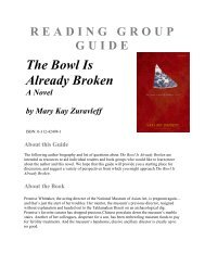 READING GROUP GUIDE