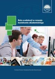 pobierz pdf - Rozwój e-edukacji w ekonomicznym szkolnictwie ...