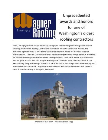 Read the press release! - Slate Roofing Contractors Association of ...