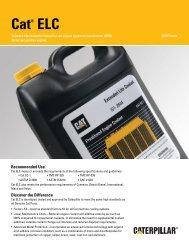 Cat® ELC™ (Extended Life Coolant) - Caterpillar