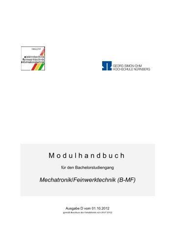 Modulhandbuch - Elektrotechnik Feinwerktechnik Informationstechnik