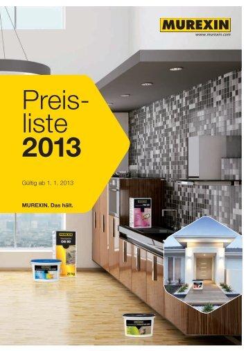 Preis- liste - Murexin AG