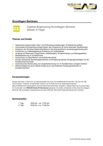 Grundlagen-Seminare Cabinet Engineering Grundlagen ... - wscad