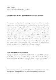 E-learning wobec trendów demograficznych w Polsce i na świecie