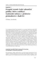Evropský rozměr české zahraniční politiky - Mezinárodní vztahy