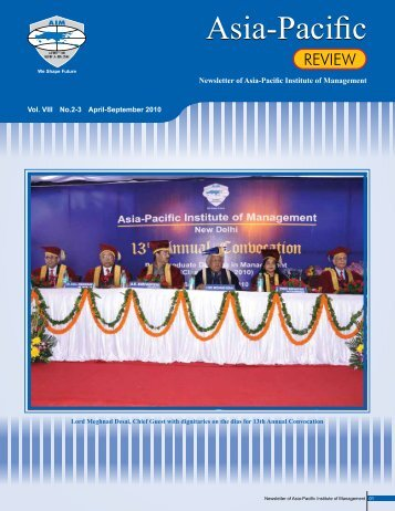 REVIEW - Asia Pacific Institute of Management
