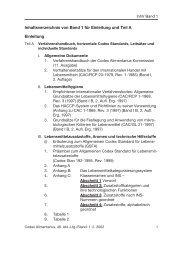 Codex Inhaltsverzeichnis Band 1–4