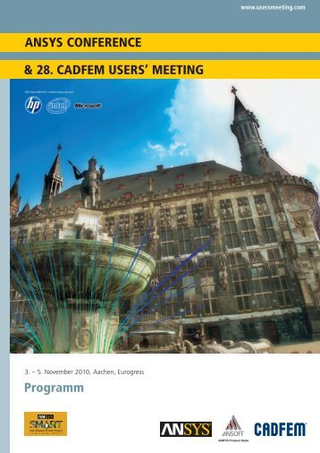 Programm ANSYS CONFERENCE & 28. CADFEM USERS' MEETING