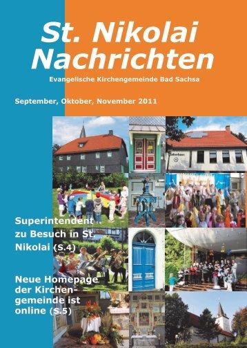 Gemeindebrief - Startseite | Kirchengemeinde St. Nikolai Bad Sachsa