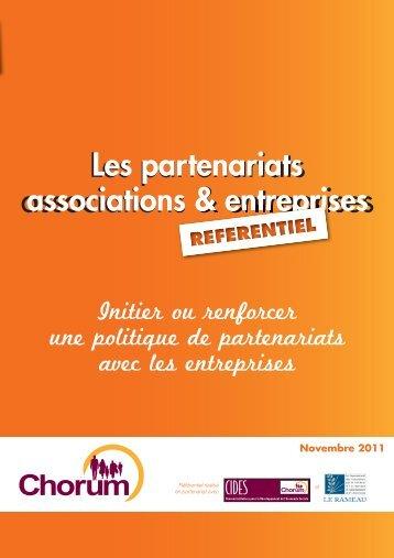 Les partenariats associations & entreprises - CIDES - Chorum
