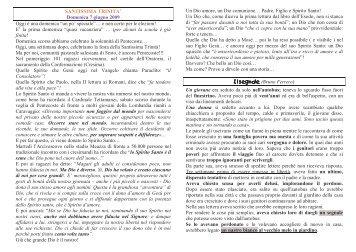 7 giugno 2009 - Il sito dell'Oratorio Salesiano Rondinella