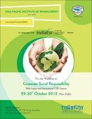 CSR Brochure Design 01102012 - Asia Pacific Institute of ...