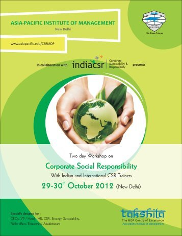 CSR Brochure Design 01102012 - Asia Pacific Institute of ...