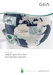 Original Spare Parts from GEA Westfalia Separator pdf, 174.7 KB