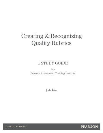 Creating & Recognizing Quality Rubrics - Assessment Training ...