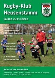 Saisonheft 2011-12 - Rugby Klub Heusenstamm