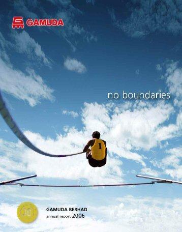 no boundaries - Gamuda Berhad - Investor Relations
