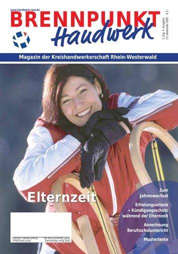 Magazin der Kreishandwerkerschaft Rhein-Westerwald