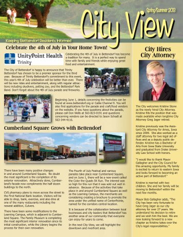 USE SPRING SUMMER CITY VIEW 2013 ... - City of Bettendorf