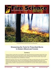 Sharpening the Tools for Prescribed Burns In Eastern Mixed-oak ...