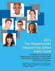Tobacco Free School Policy Guide 2013 - Massachusetts ...