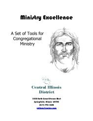 The Youth Ministry Resource Manual - Central Illinois District ...