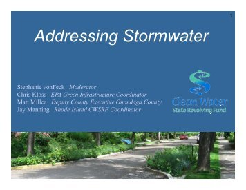 Addressing Stormwater