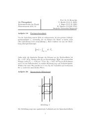 10. ¨Ubungsblatt Rechenmethoden der Physik Wintersemester 2011 ...