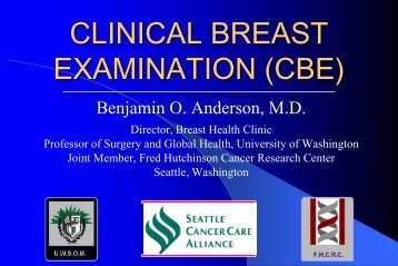 clinical breast examination (cbe) - Breast Health Global Initiative