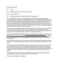 MEMORANDUM To: Faculty From - Academic Affairs - Florida ...